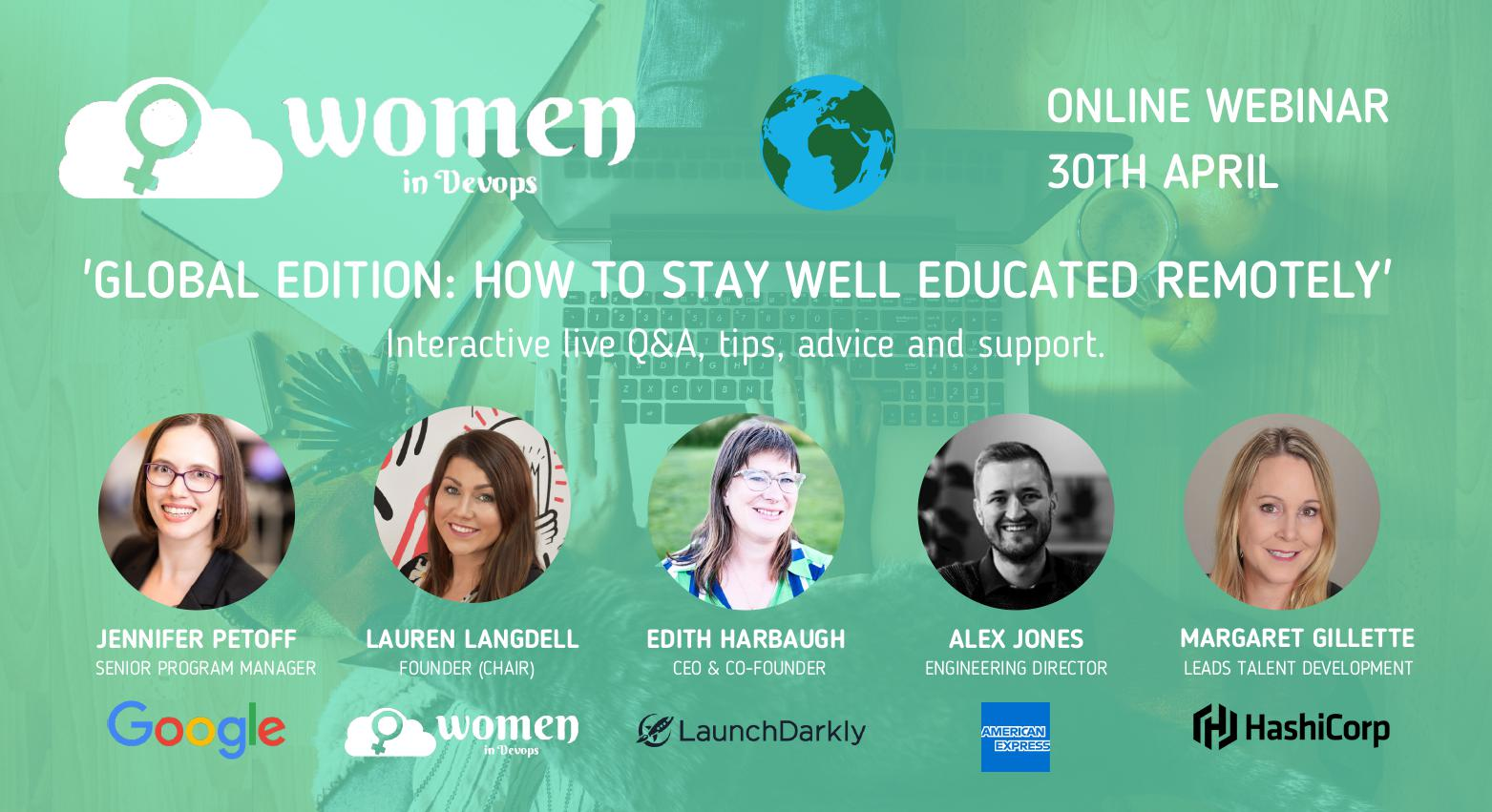 Webinar #2 - Global Edition: How to stay well educated remotely